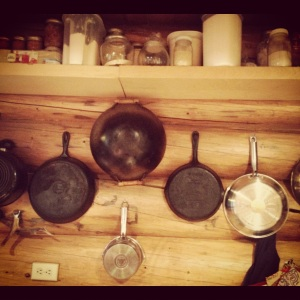 Pans on the wall