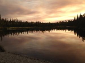 Sunset over Ballaine lake