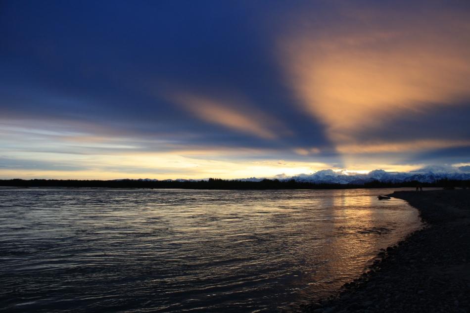 Sunset in Talkeetna